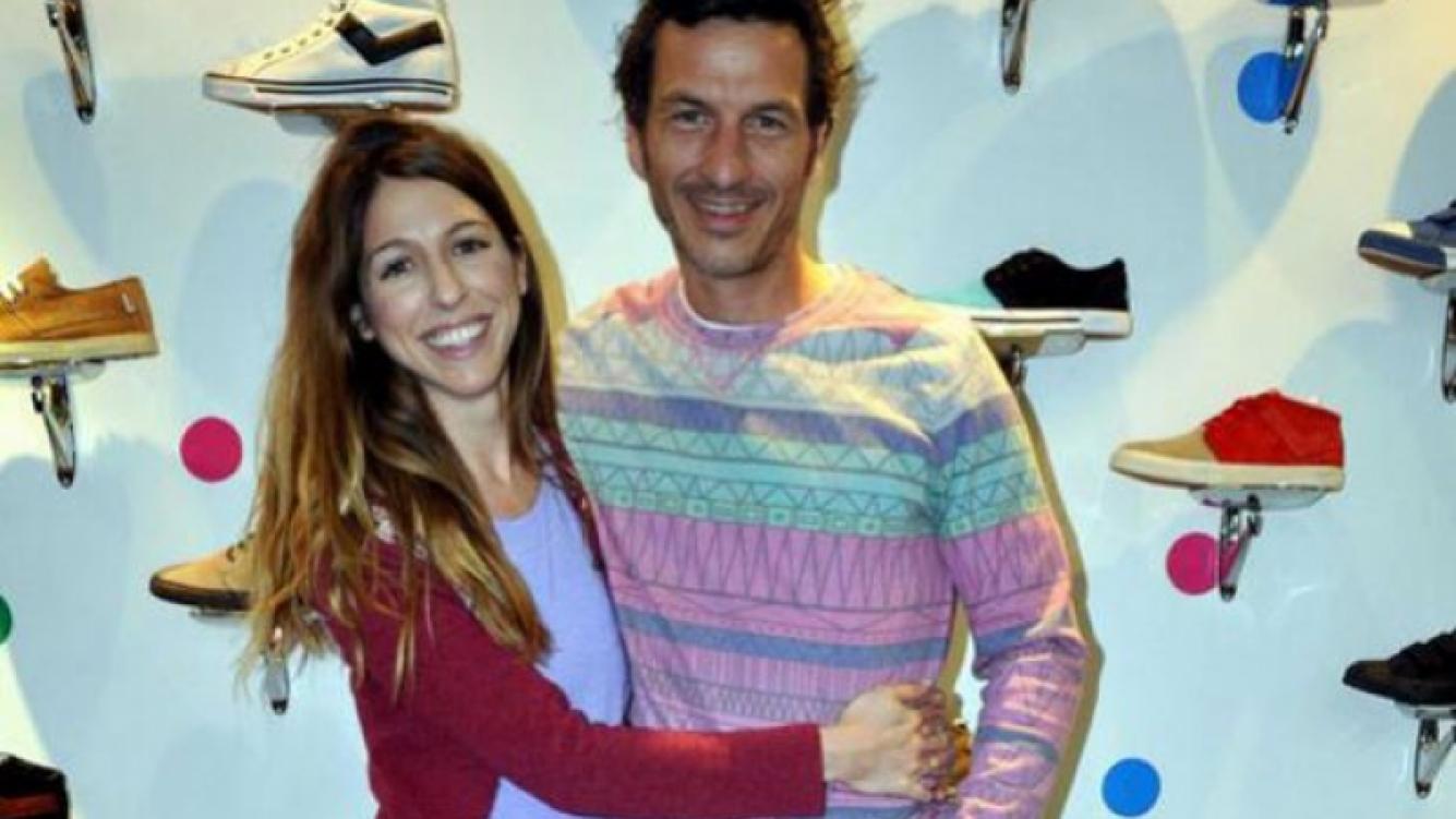 Florencia Bertotti y Federico Amador, una pareja enamorada (Foto: Twitter).
