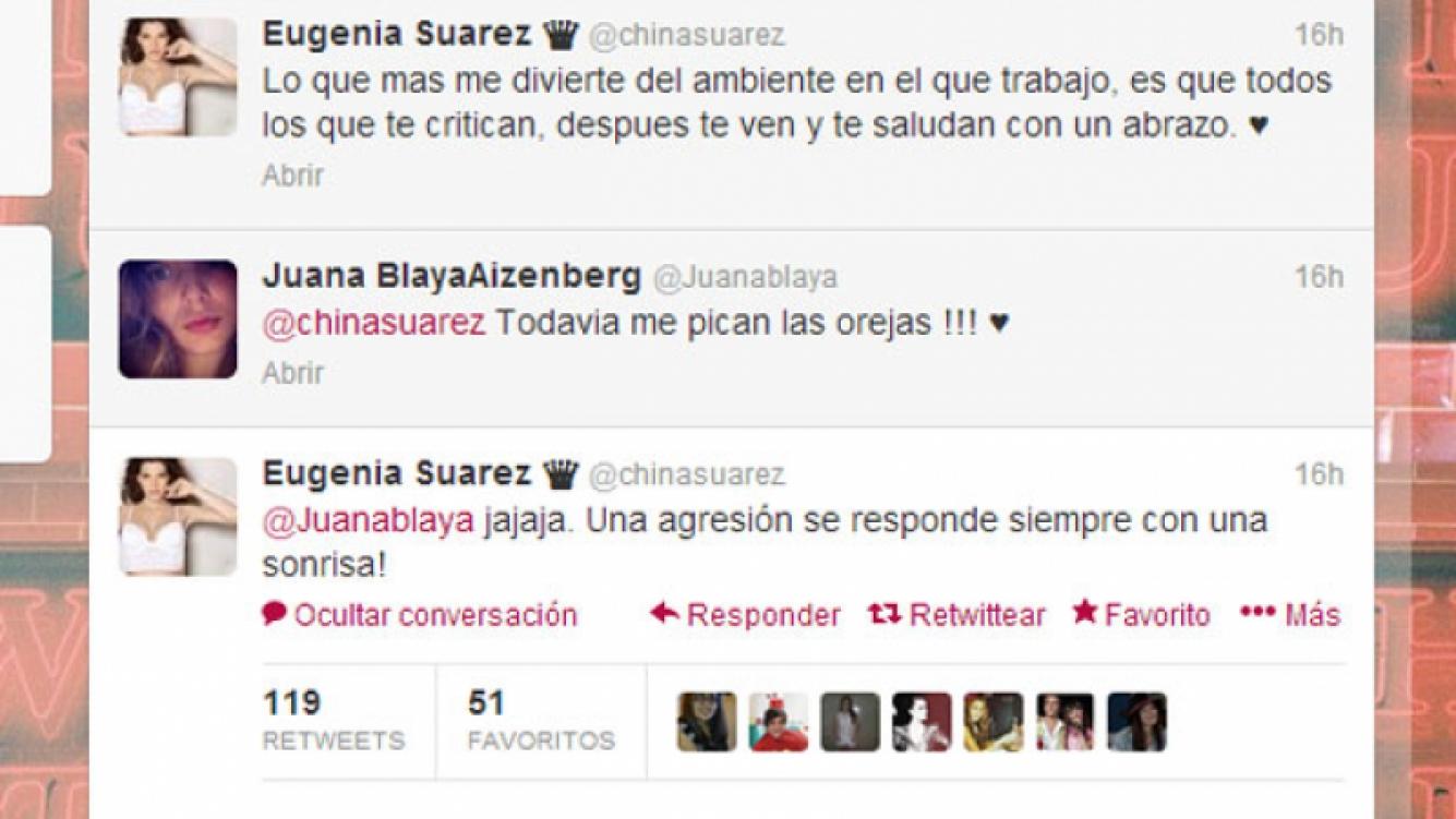 La China Suárez expresó su molestia en Twitter, pero no dio nombres (Fotos: Twitter).