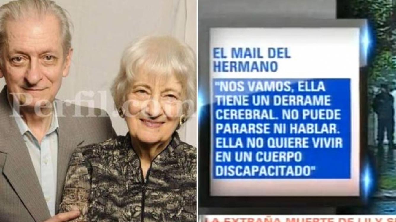 El mail de despedida que anunciaba el trágico final de Lily Sullos (Fotos: Perfil.com y captura de TV).