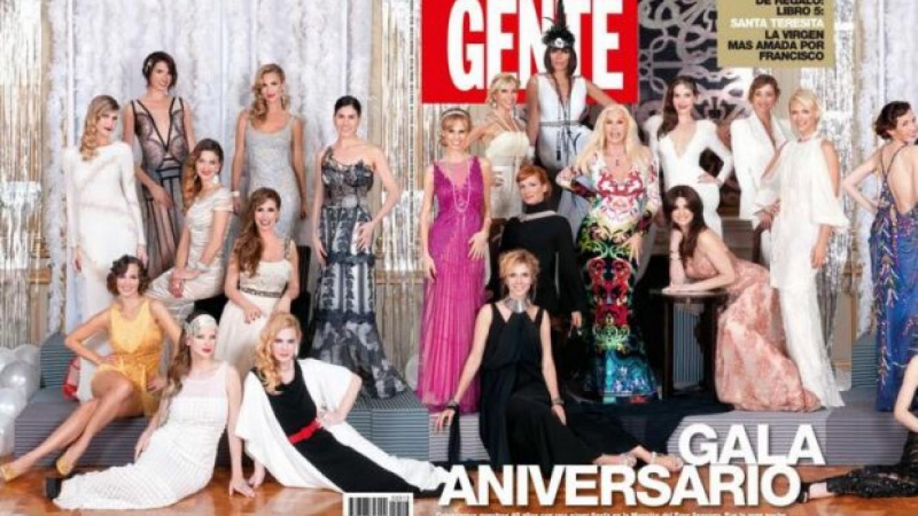 La polémica tapa de la gala aniversario de revista Gente.