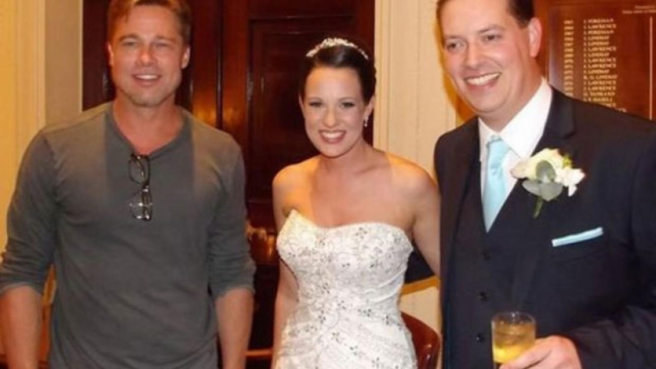"Brad Pitt se ""autoinvitó"" a una boda para sorprender a los novios. (Foto: Web)"