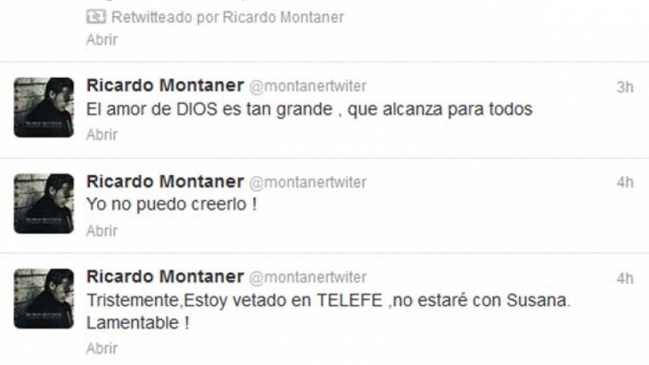 Los tweets de Ricardo Montaner. (Foto: @montanertwiter)