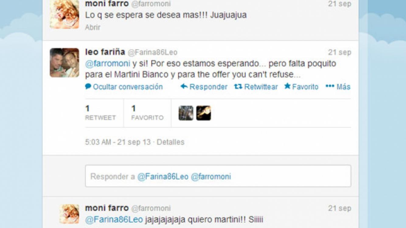 El picante intercambio de tweets entre Farro y Fariña (Foto: Captura).