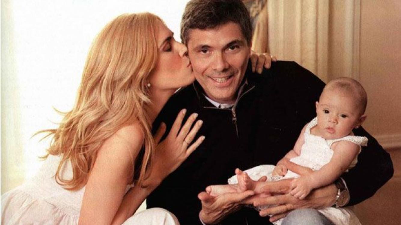 Viviana Canosa con Alejandro y su hija Martina (Foto: revista Gente).