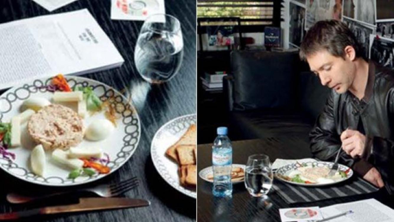 El menú ejecutivo de Adrián Suar. (Fotos: revista Gente)