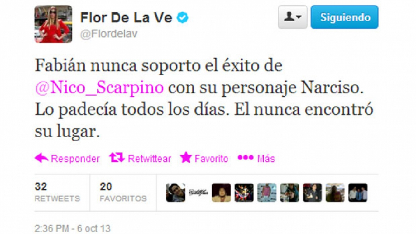 El furioso tweet de Florencia de la V (Foto: captura de Twitter).