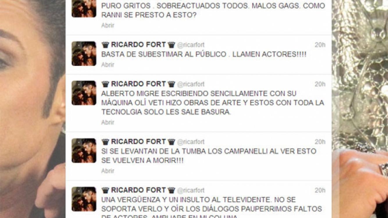 Ricardo Fort, lapidario contra Los Grimaldi (Foto: Captura).
