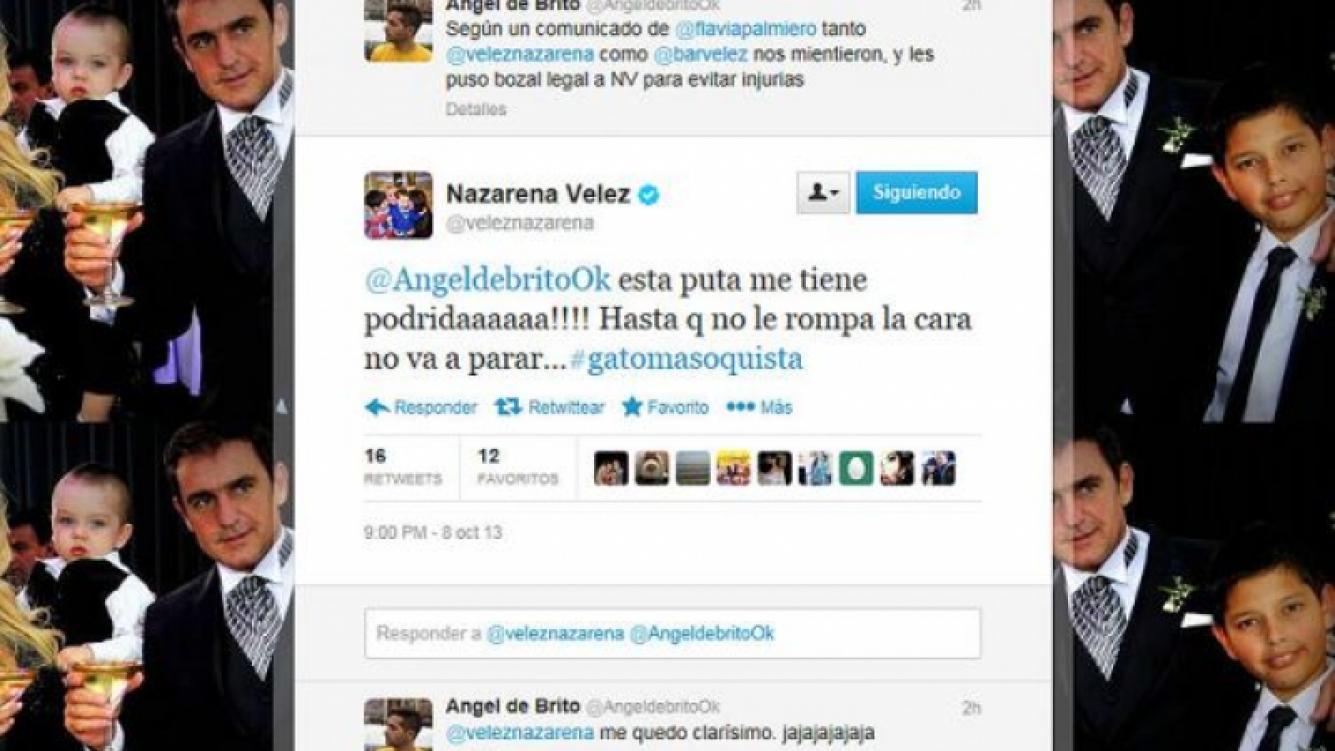 La escandalosa reacción de Nazarena Vélez desde Twitter. (Foto: @veleznazarena)