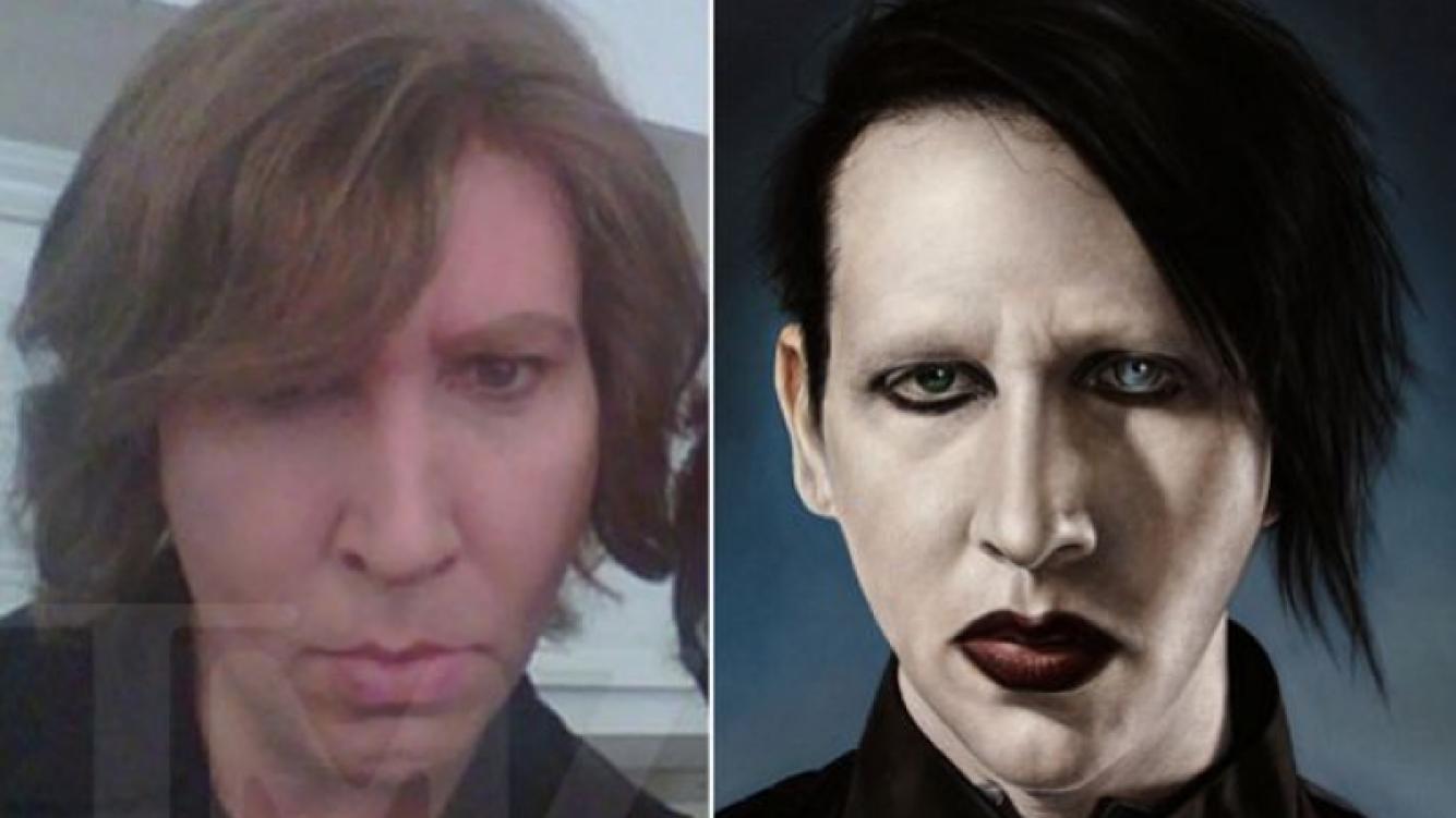 La impactante foto de Marilyn Manson sin maquillaje. (Foto: TMZ.com/Web)