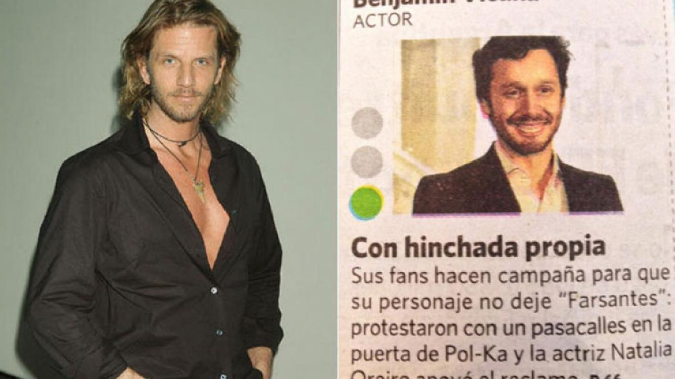 Facundo Arana se sumó a la campaña para que Benjamín Vicuña siga en Farsantes (Fotos: Web y Twitter).