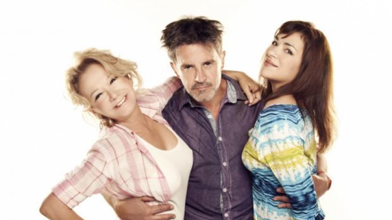 Claribel Medina, Soledad Silveyra y Osvaldo Laport en Mis amigos de siempre. (Foto: Pol-Ka)