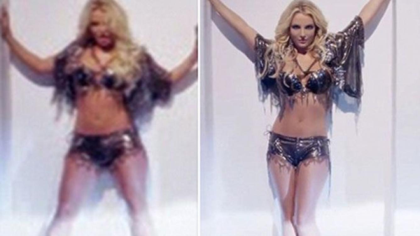 Britney Spears: El Photoshop en el video Work Bitch que desató la polémica. (Foto: Web)