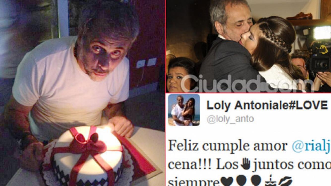 Jorge Rial y una foto de la intimidad de su cumpleaños (Foto: Twitter y Ciudad.com).