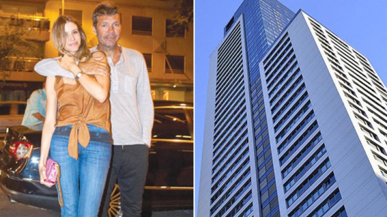 Marcelo Tinelli y Guillermina Valdés, a 14 pisos de distancia. (Fotos: archivo revista Hola! y Web)