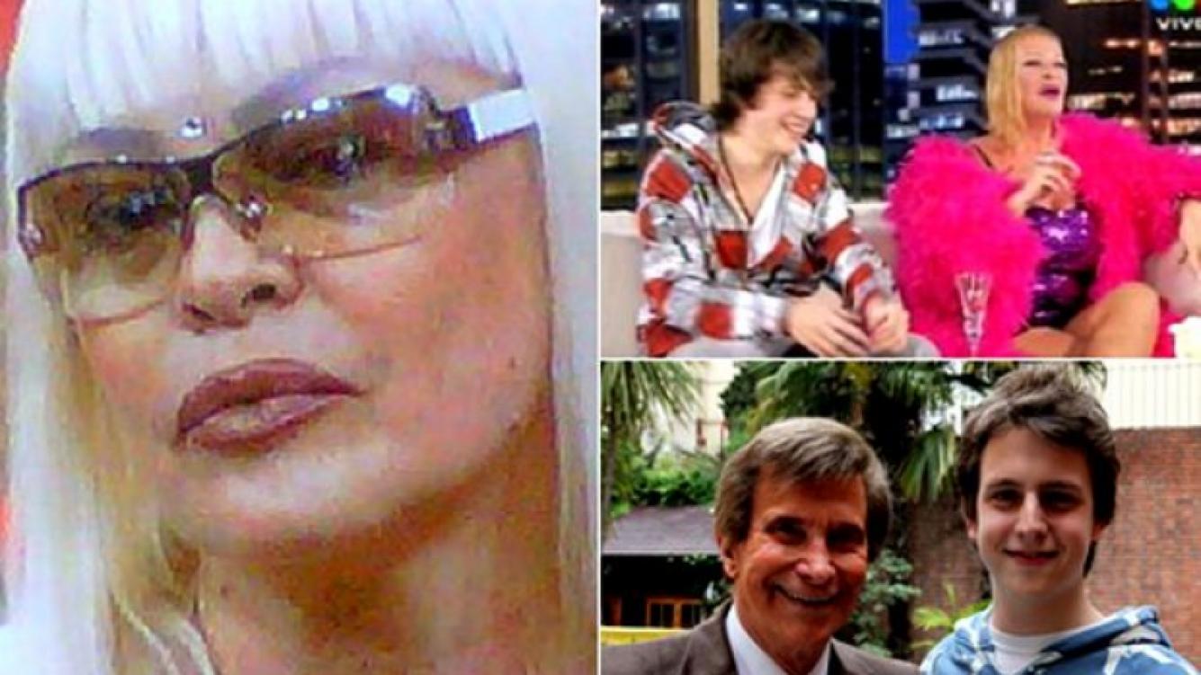 Silvia Süller lleva a su hijo Christian a la Justicia. (Fotos: Captura TV, AgusRey, La Nación)