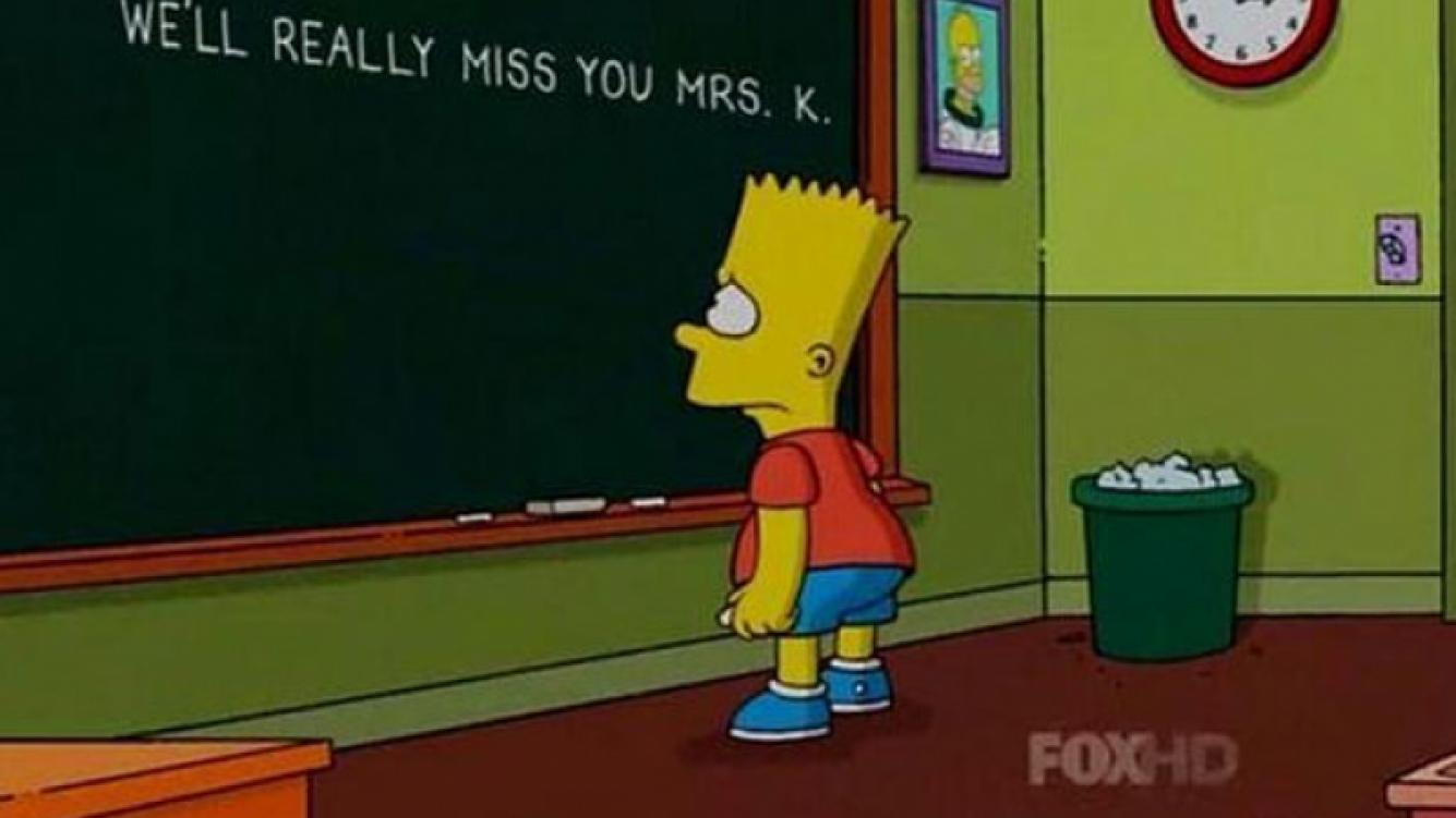 Los Simpsons despidieron a Edna Krabappel con un tierno mensaje. Foto: web)