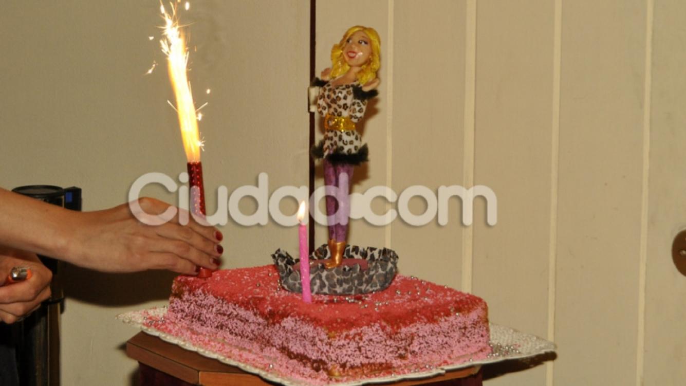 La torta de cumpleaños de Florencia Peña. (Foto: Jennifer Rubio-Ciudad.com)