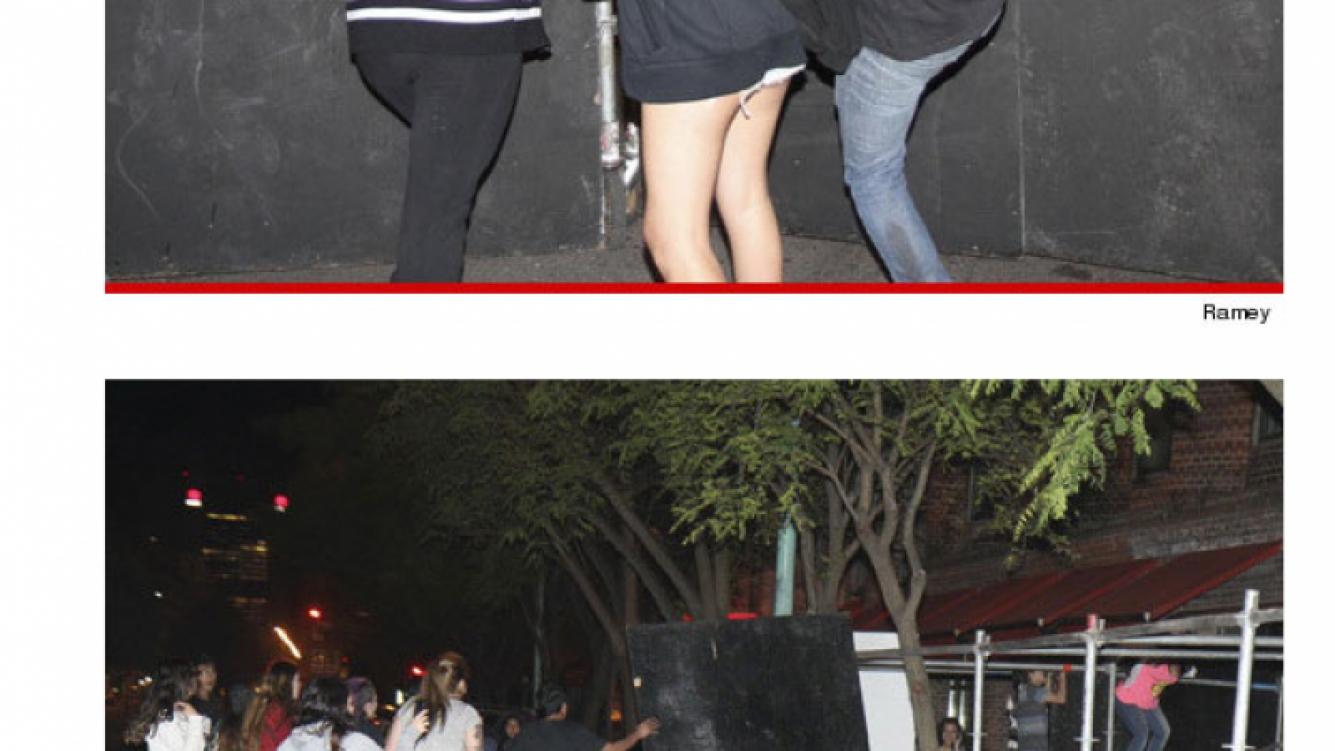 Fans de Justin Bieber causaron destrozos en la puerta del Hotel Faena . (Foto: TMZ.com)