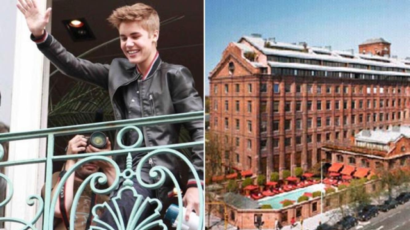 Justin Bieber, afuera del hotel Faena. (Fotos: archivo Web)