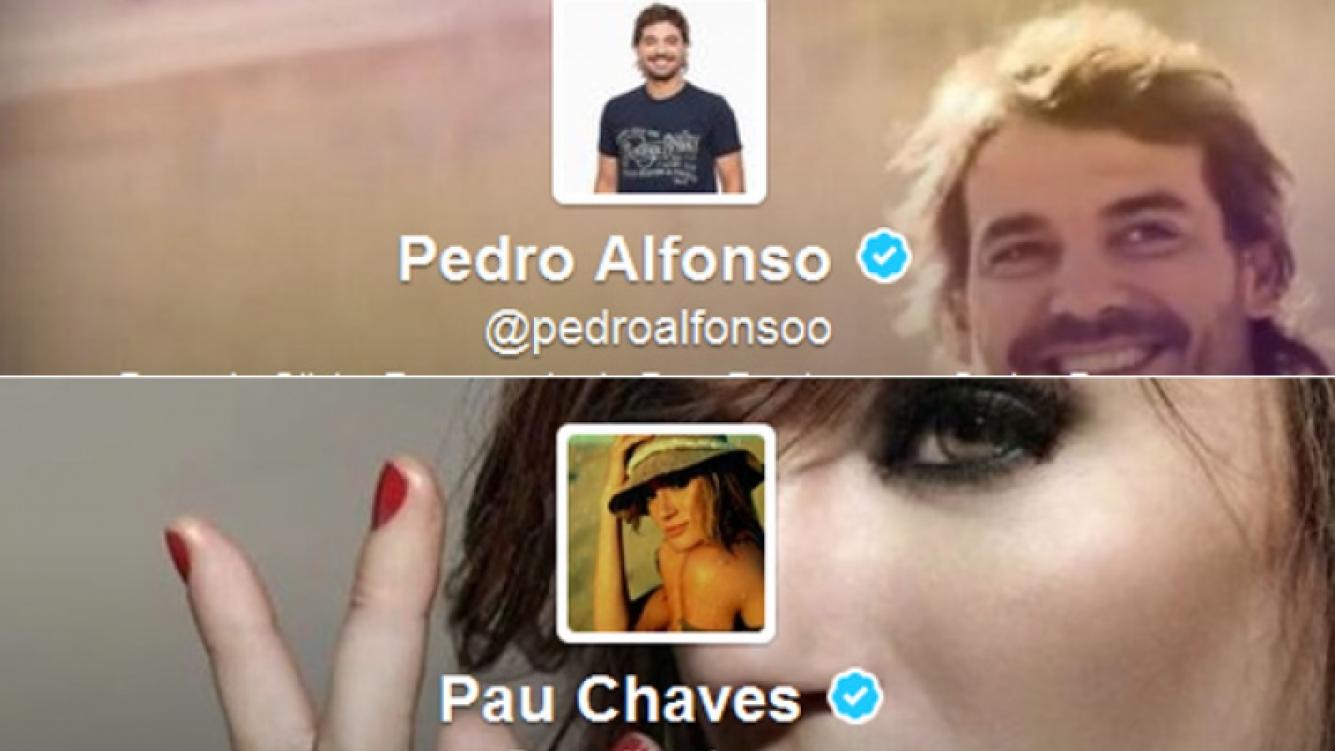 El divertido cruce tuitero de Paula Chaves y Pedro Alfonso. (Foto: Twitter)