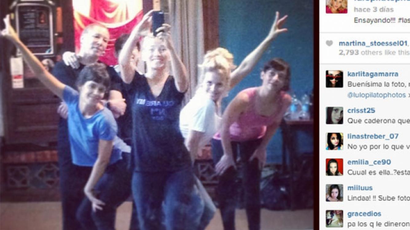 Luisana también compartió una foto entrenando con sus amigas (Foto: Instagram).