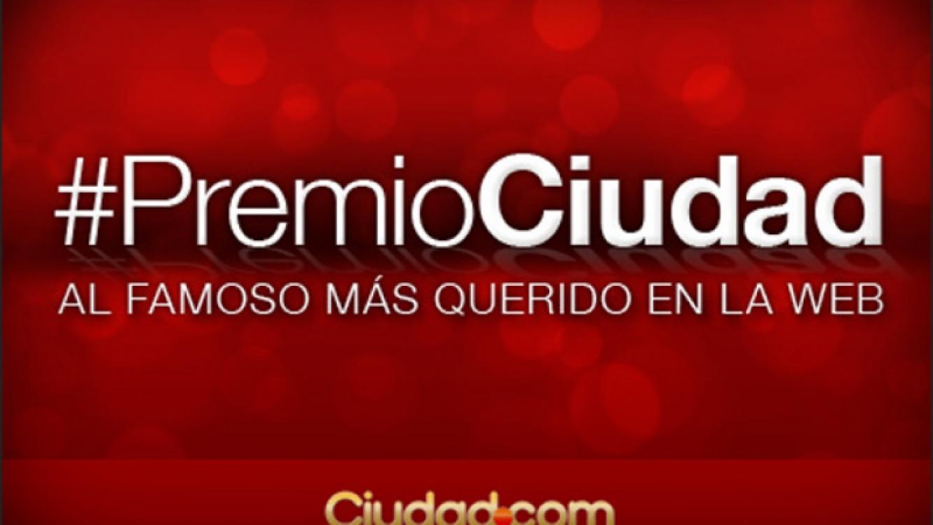 Premio Ciudad.com al famoso más querido en la Web.