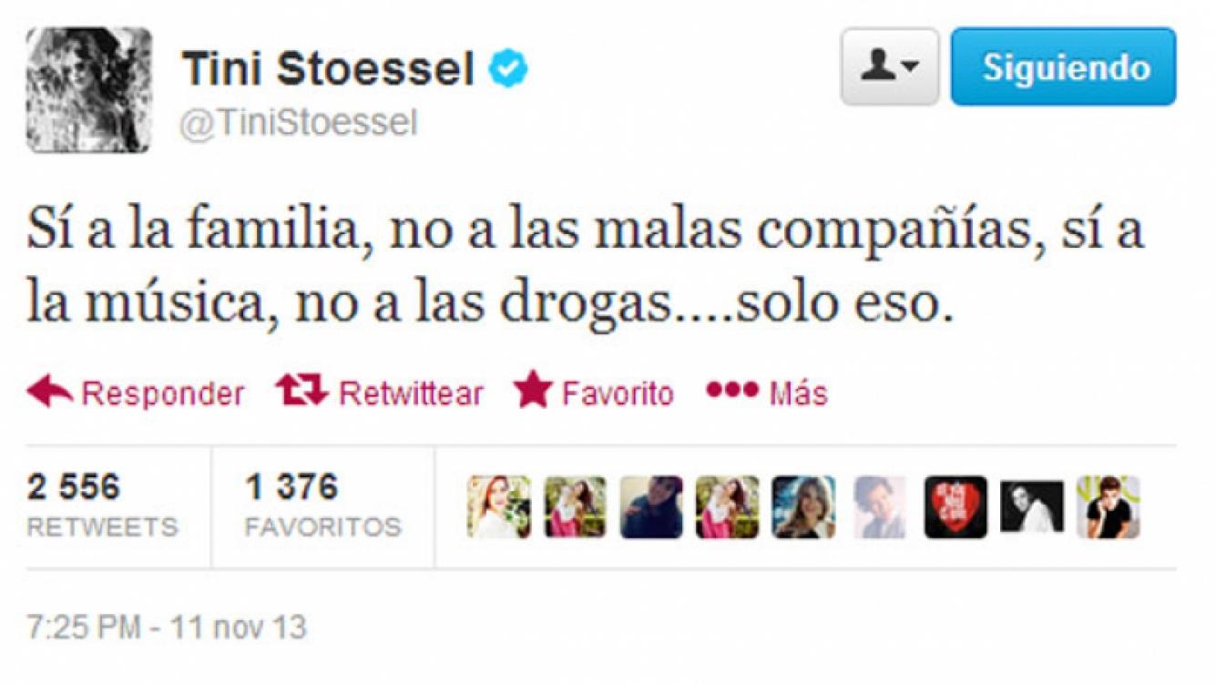 El tweet de Martina Stoessel ¿sobre Justin Bieber? (Foto: Twitter)