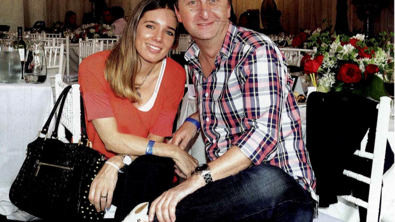 Diego Korol y su novia Romina Ricle. (Foto: revista Caras)