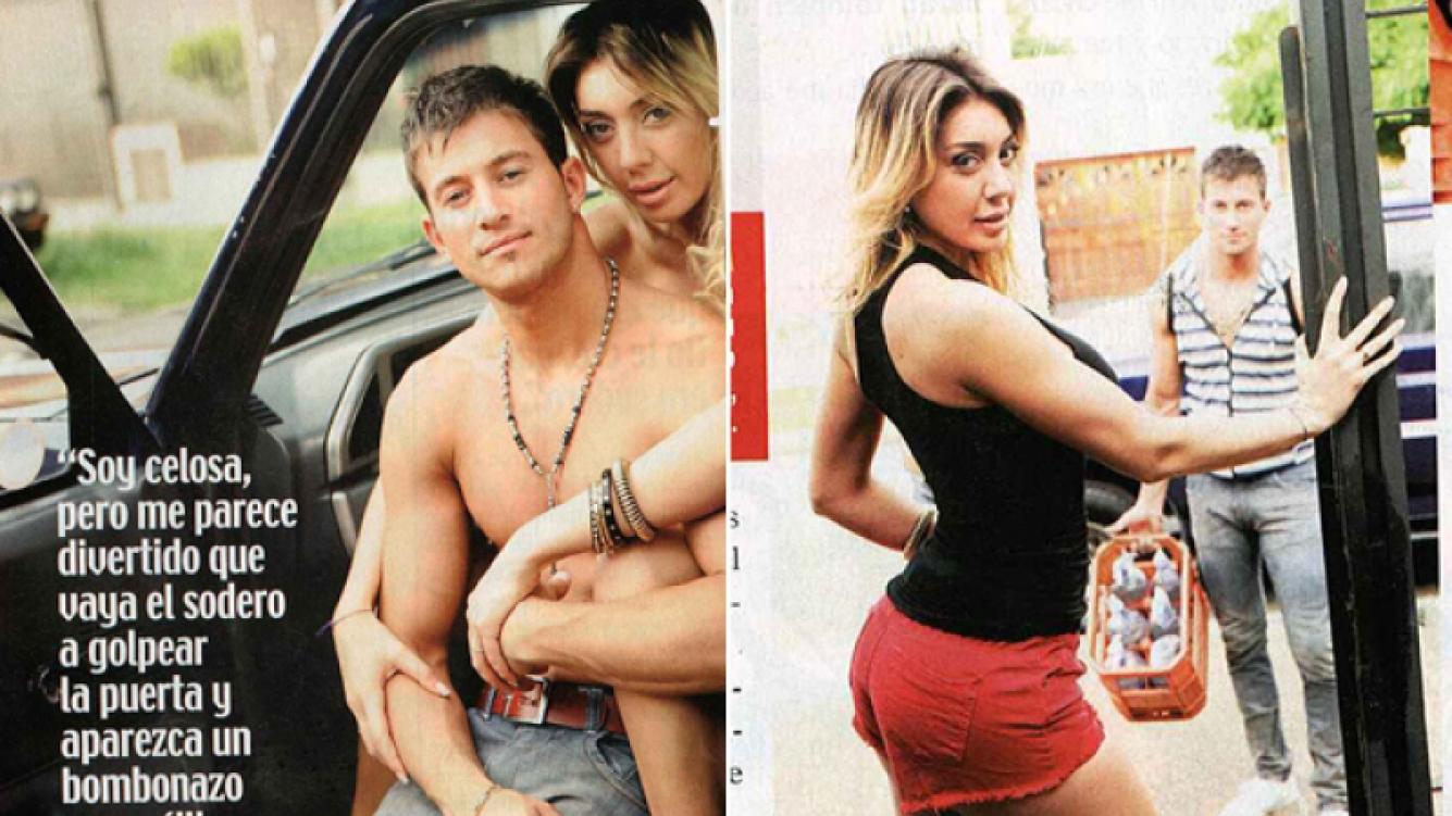 Johanna Villafañe y su novio sodero. (Fotos: revista Paparazzi)