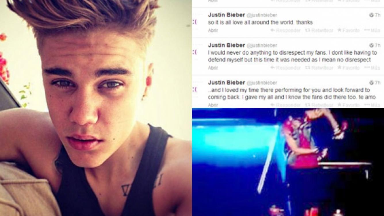 Justin Bieber se disculpó públicamente con la gente de nuestro país (Fotos: Web y Twitter).