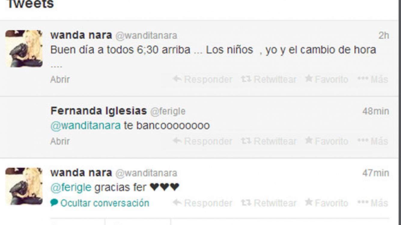 Los tweets de Wanda tras la declaración de Mauro (Foto: Captura).