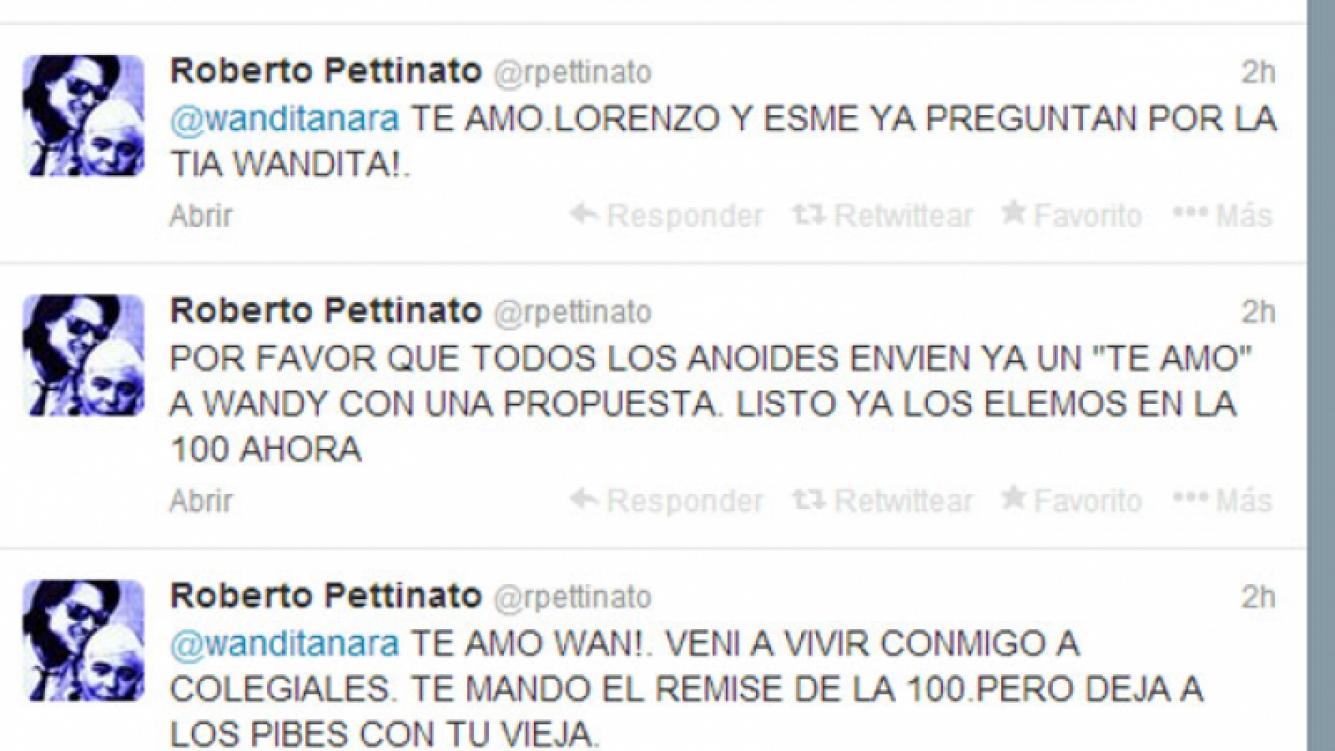 Roberto Pettinato, filoso contra Kusnetzoff y Wanda (Fotos: Web).