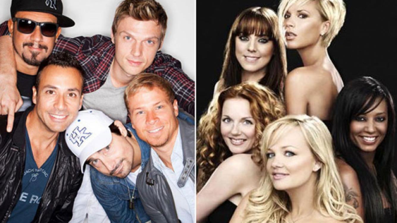 Los Backstreet Boys y las Spice Girls: ¿de gira juntos? (Foto: Web)