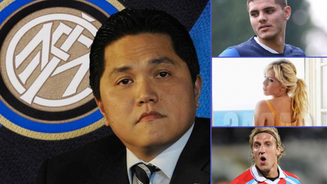 El presidente del Inter se refirió al escándalo entre Icardi, Wanda y Maxi