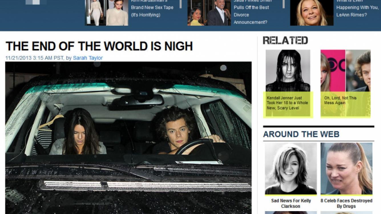 Harry Styles y Kendall Jenner, juntos en la noche hollywoodense. (Foto: Fishwrapper.com)