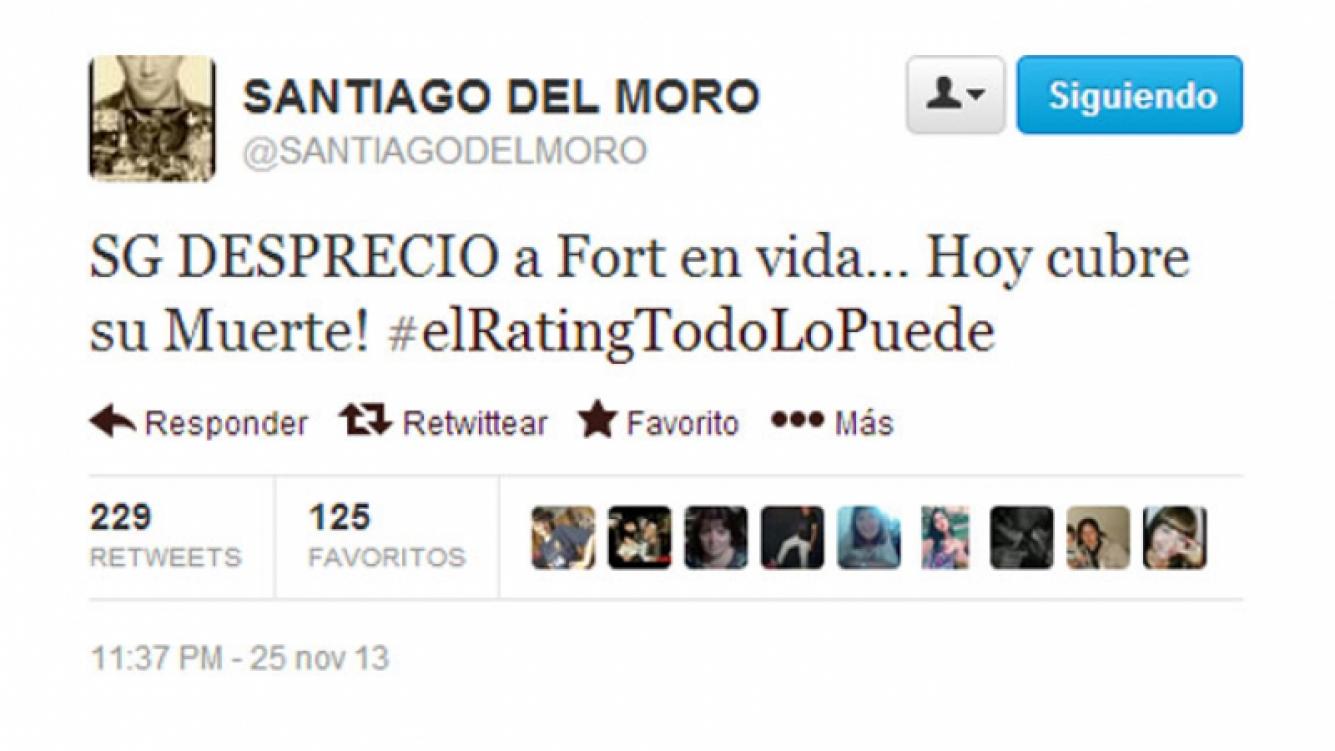 Santiago del Moro y un durísimo mensaje contra Susana Giménez (Foto: captura de Twitter)