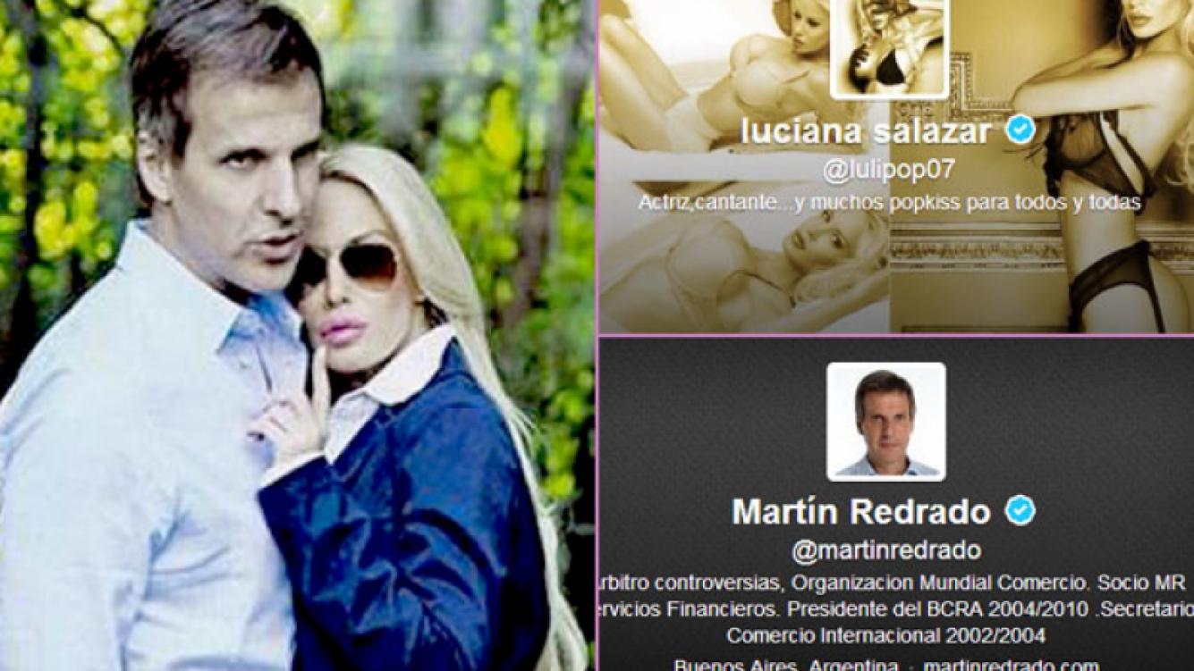 Luli Salazar y Martín Redrado: rumores de separación. (Fotos: Web y captura de Twitter)