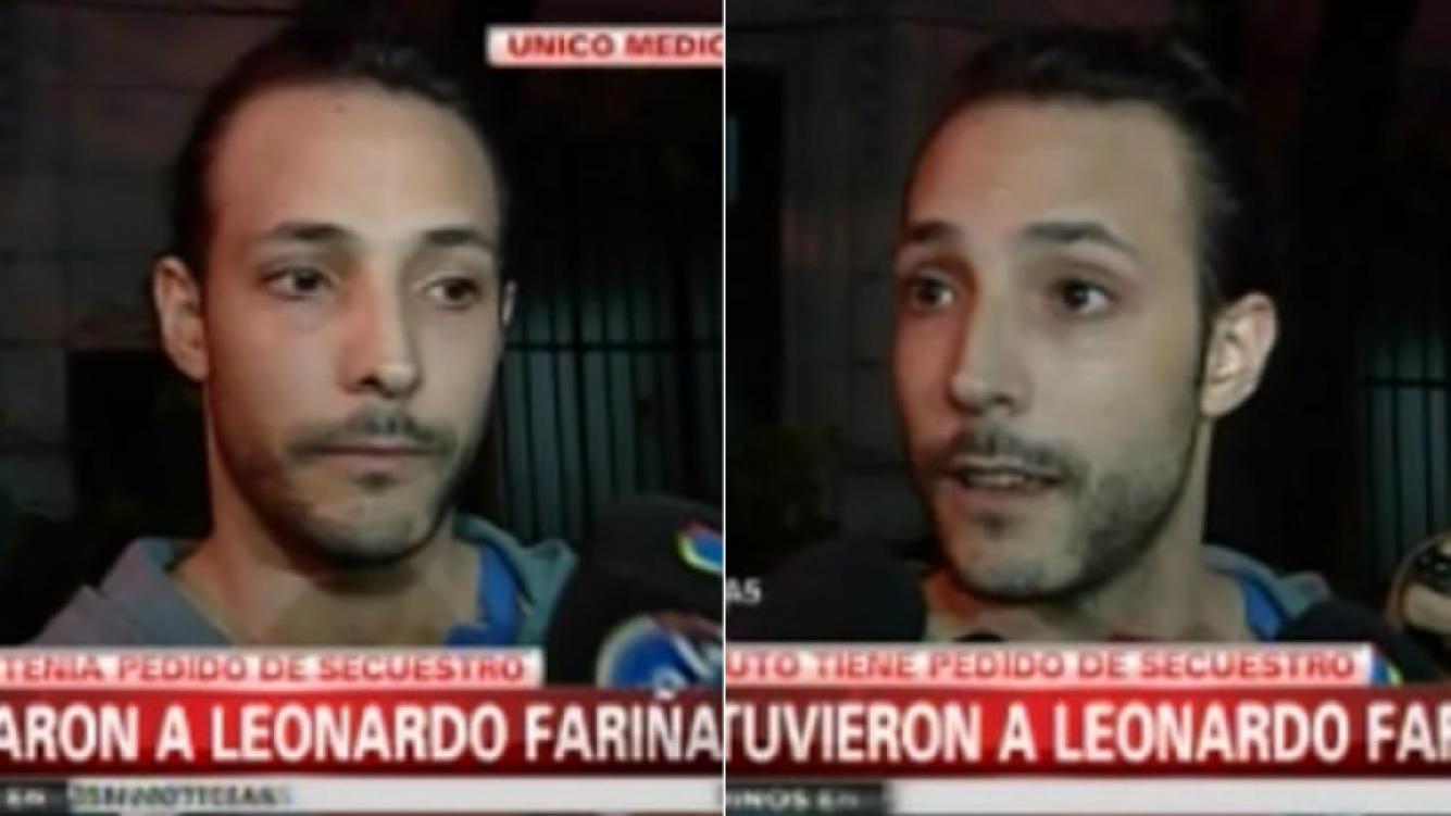 Leonardo Fariña, liberado. (Foto: captura de tv)