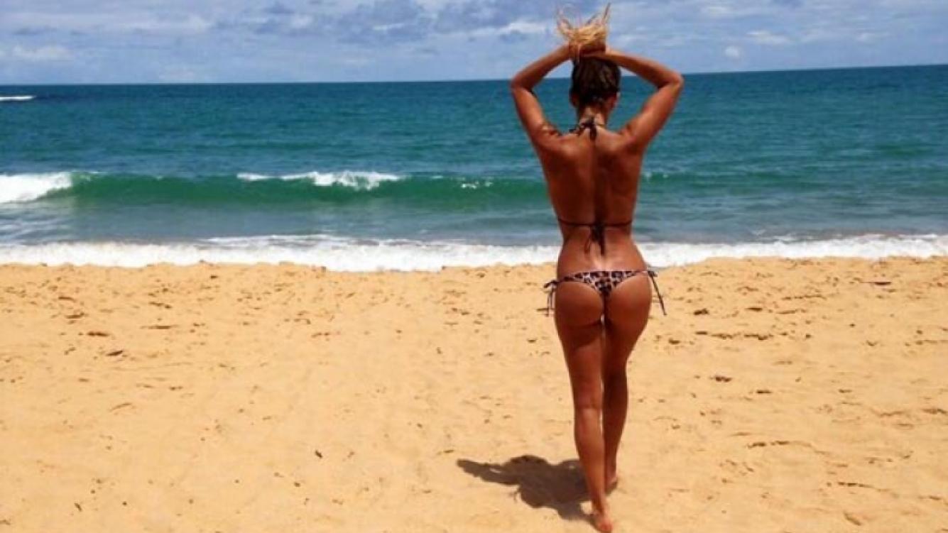 Noelia Marzol, en las playas de Brasil. (Foto: @noeliamarzol)