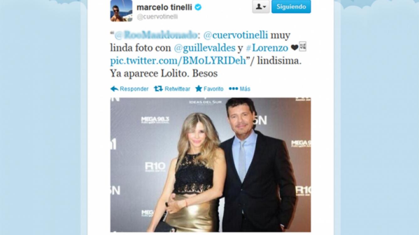 Marcelo Tinelli contó que le dirá Lolito a su hijo Lorenzo. (Foto: Twitter @cuervotinelli)