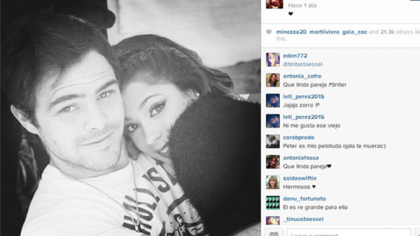 Peter Lanzani y Martina Stoessel, enamorados en la Web (Foto: Instagram).