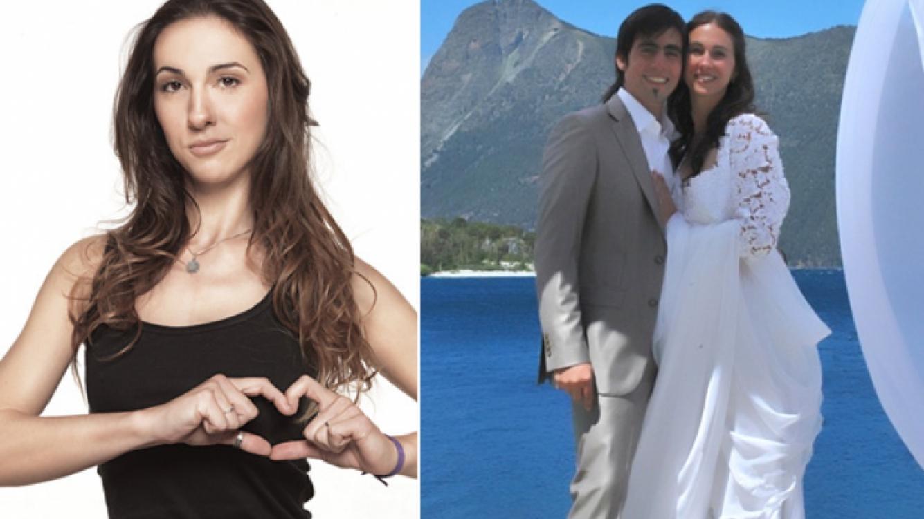 Julieta Pink, embarazada de cuatro meses junto a su esposo Luis Caldero. (Fotos: Web y blog Metro y medio)