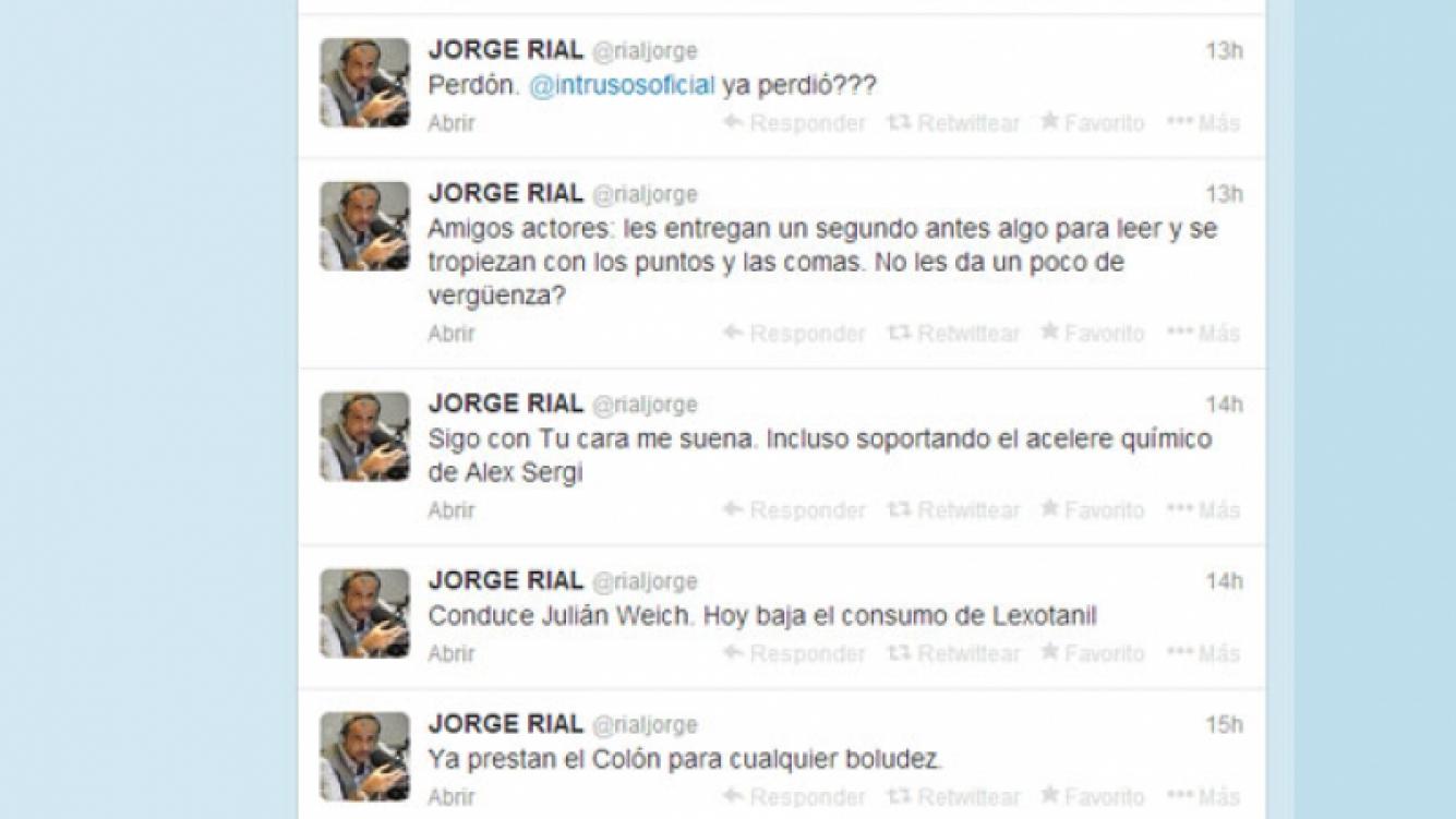Los picantes tweets de Jorge Rial (Foto: Captura).
