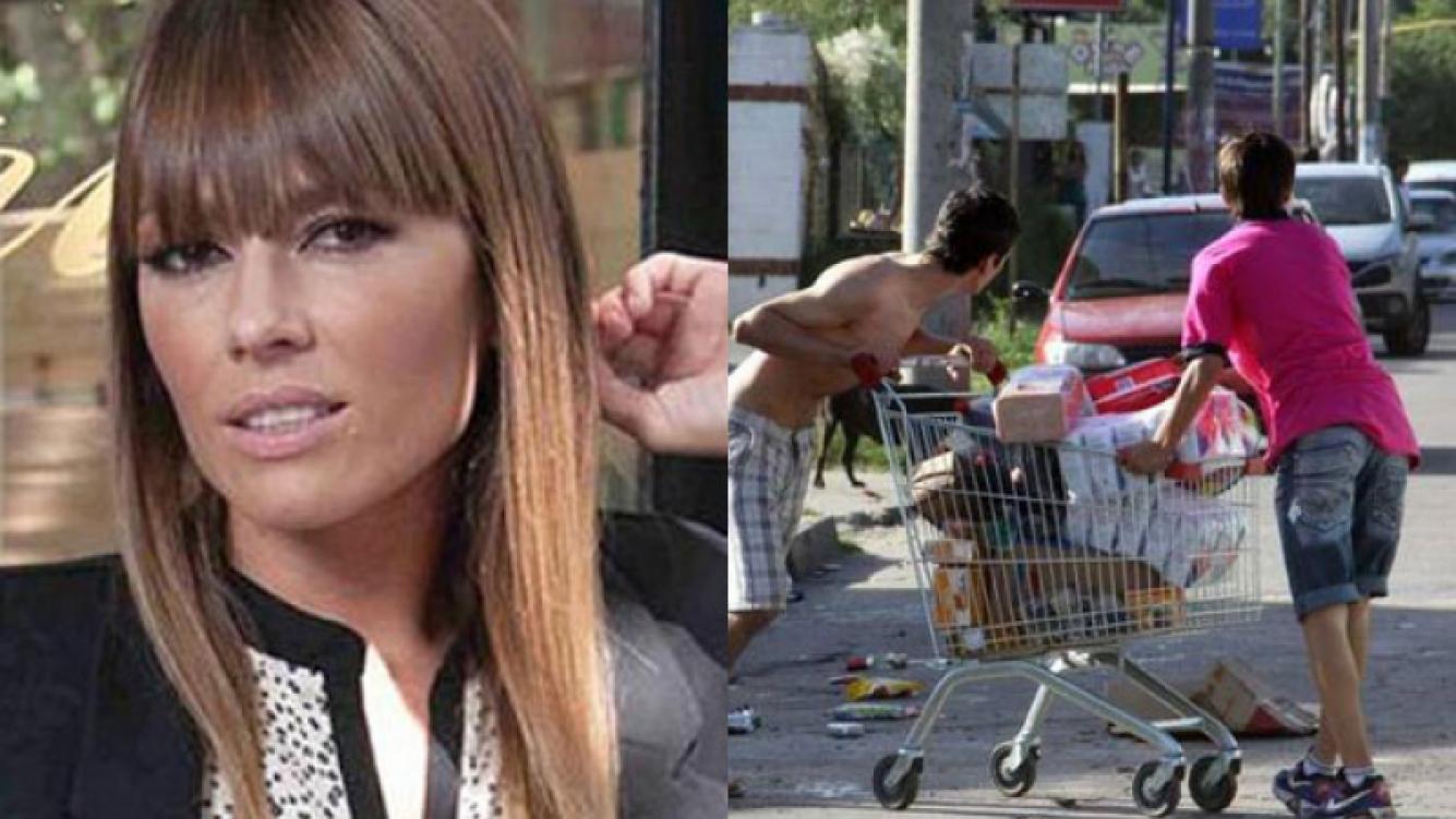 Coki Ramírez, indignada por la situación de Córdoba (Fotos: Web y Clarín.com).
