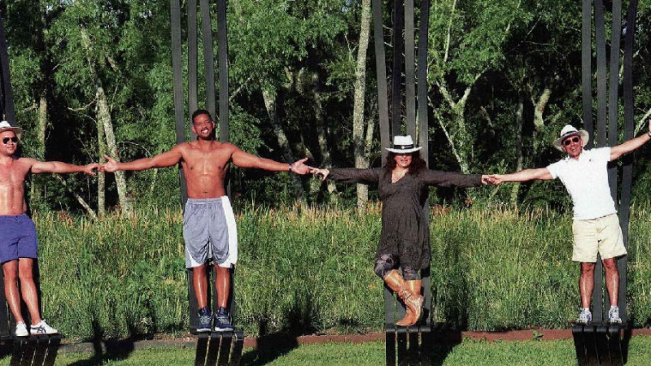Will Smith mostró su lomazo en una estancia del Delta de Tigre. (Foto: Revista Caras)