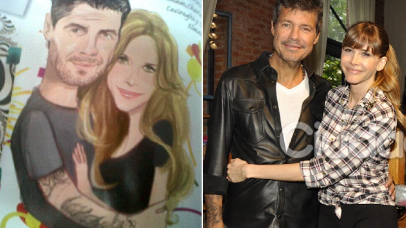 Marcelo Tinelli y Guillermina Valdés, ¡igualitos! (Fotos: revista Susana y archivo Ciudad.com)