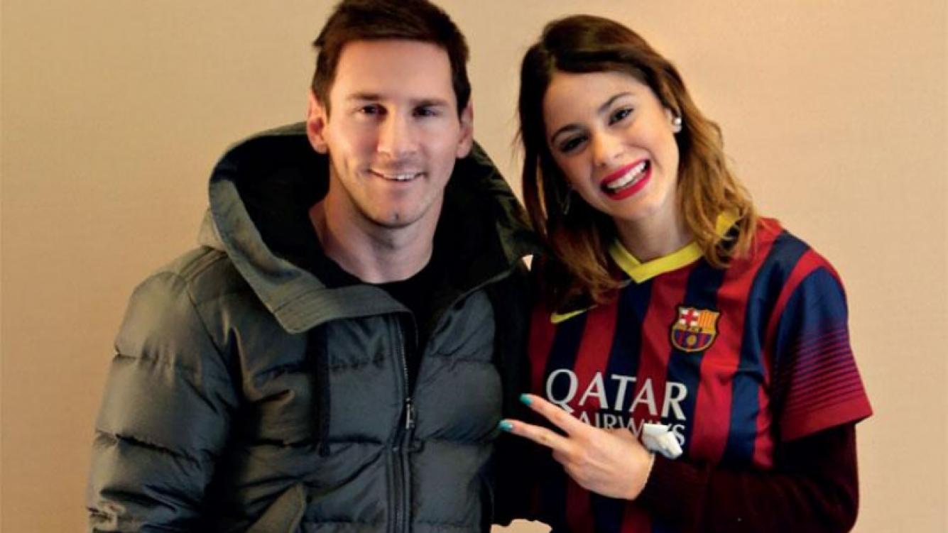 Lionel Messi y Martina Stoessel, juntos. (Foto: revista Gente)