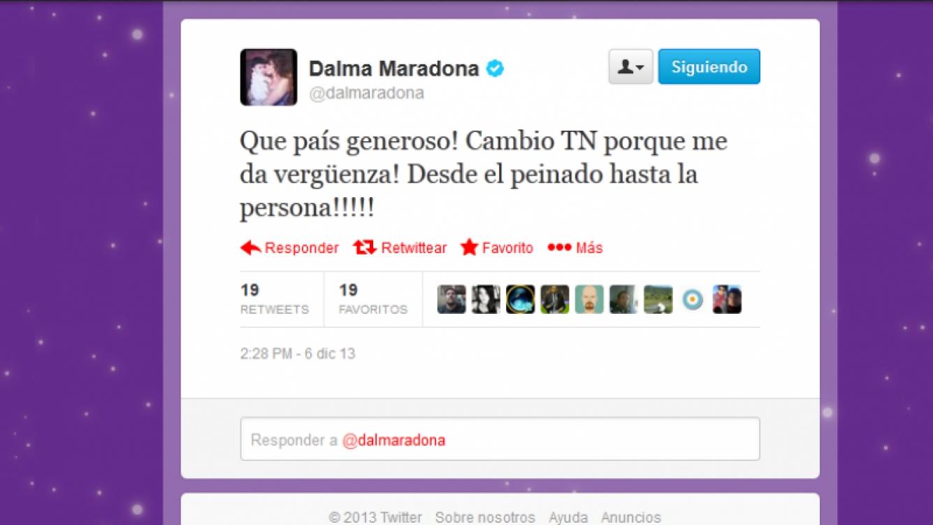 El duro tweet de Dalma Maradona.