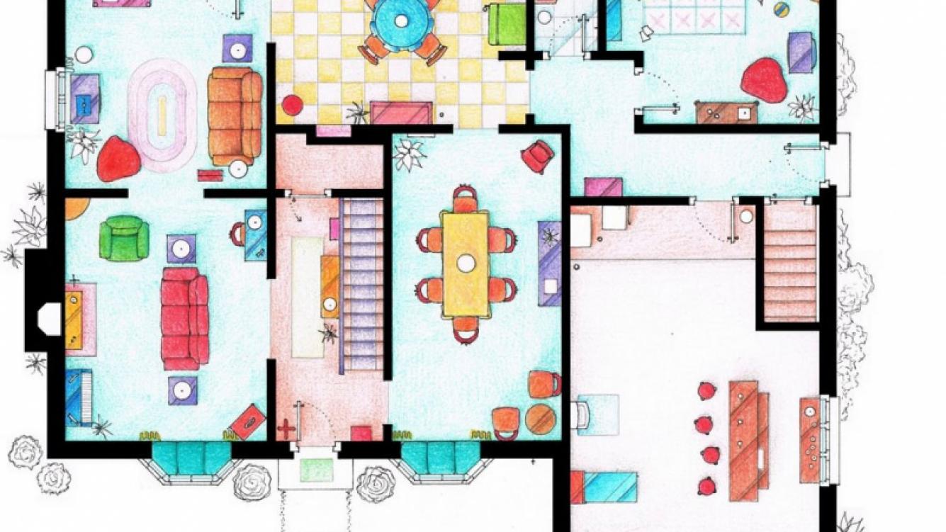 La casa de los simpson en springfield mir el plano de for Tutto x la casa