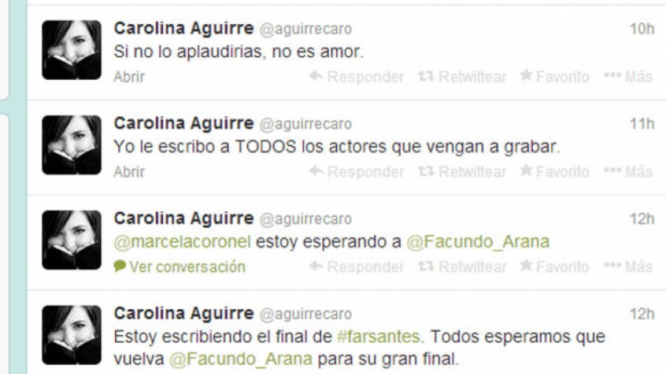 Carolina Aguirre habló de la salida anticipada de Arana en Twitter (Fotos: Web).